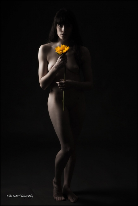 art nude flower